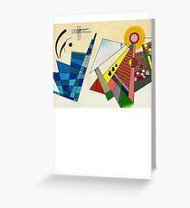 TARDIS abstrait Kandinsky Greeting Card