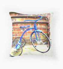 Memories in Blue Throw Pillow