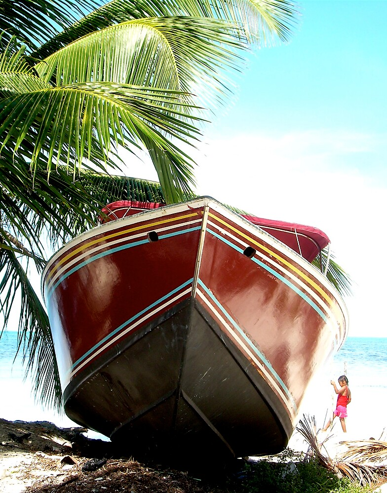 Boat at Caye Caulker, Belize by debwilson