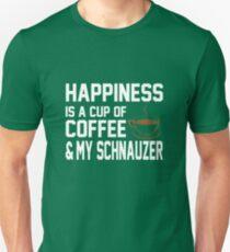 Happiness is Coffee & Schnauzer Unisex T-Shirt