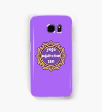 Violet Mandala and Sign 'Yoga Maditation Zen' for yogis Samsung Galaxy Case/Skin