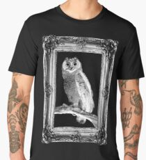 Scratchy Owl (Framed Vers.) Men's Premium T-Shirt