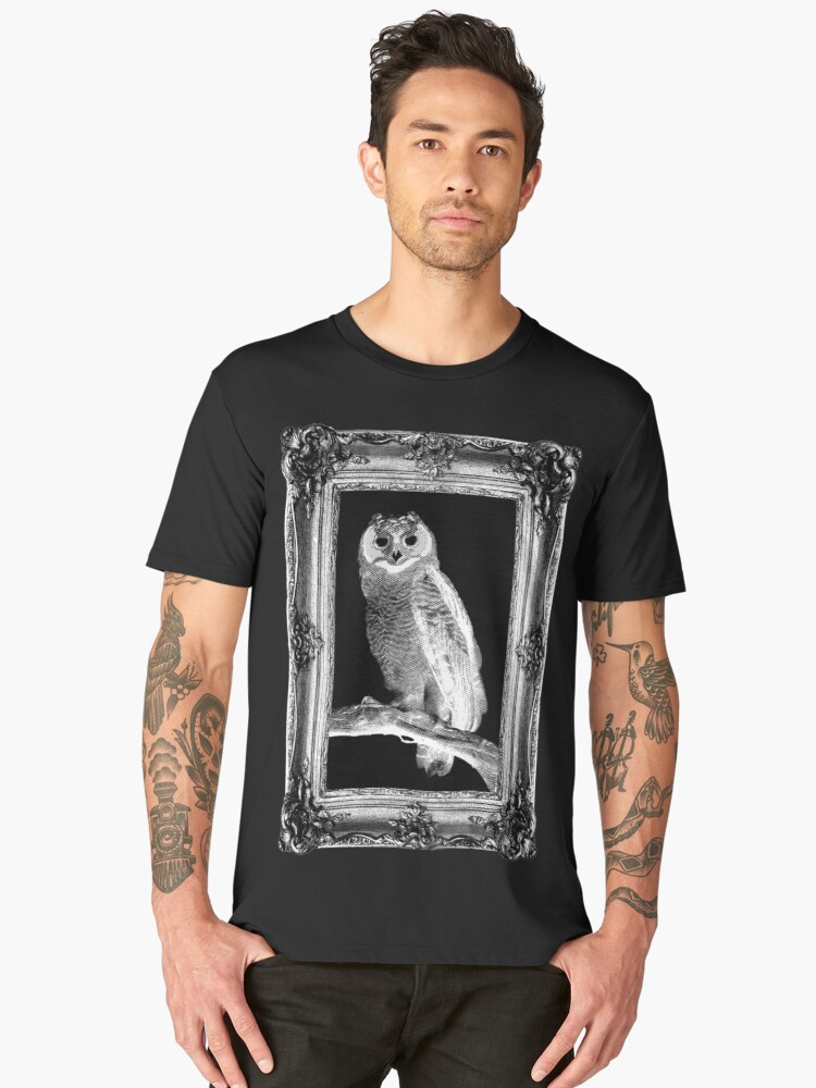 Scratchy Owl (Framed Vers.) Men's Premium T-Shirt Front