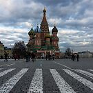 St Basil's Cathedral Moscow Russia by Norman Repacholi