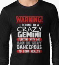 75298fd9 GEMINI - I BELONG TO A CRAZY GEMINI Long Sleeve T-Shirt