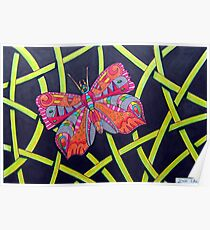 411 - FANTASY BUTTERFLY - DAVE EDWARDS MIXED MEDIA - 2014 Poster
