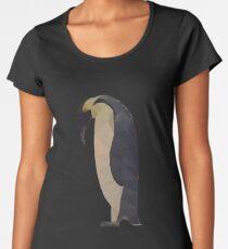 Pingouin Manchot Low Poly Women's Premium T-Shirt