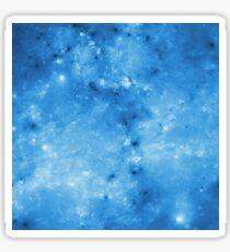 Shiny blue space Sticker
