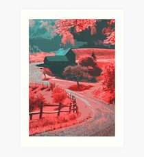 Farm in Autumn Art Print