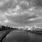 Afternoons on the Moskva River - Moscow Russia by Norman Repacholi