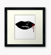Sexy Dripping  Vampire Lips Framed Print