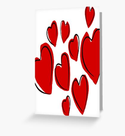 Love And Heart Overload Vector Greeting Card