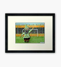 417 - FOOTBALLING GNOME - DAVE EDWARDS - COLOURED PENCILS - 2015 Framed Print