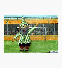 417 - FOOTBALLING GNOME - DAVE EDWARDS - COLOURED PENCILS - 2015 Photographic Print