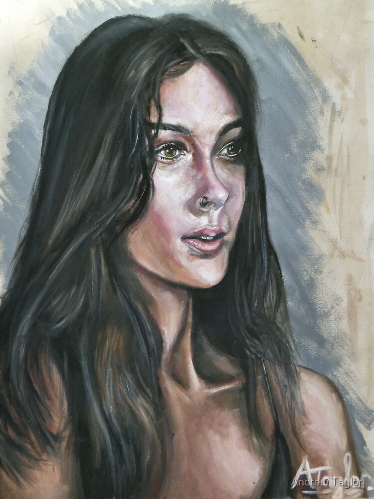 Oil portrait study by Andrew Taylor