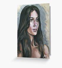 Oil portrait study Greeting Card