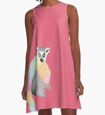 Hamish the Ring-Tailed Lemur A-Line Dress