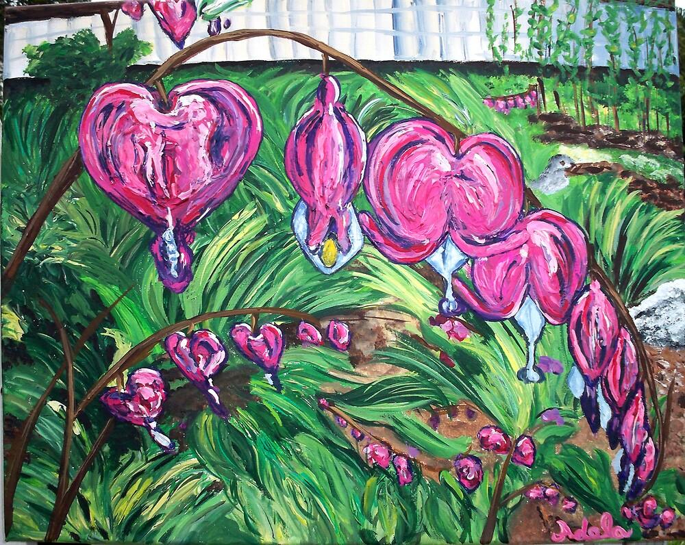 """""""Bleeding Hearts"""" by Adela bellflower"""