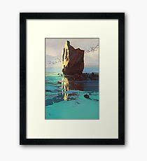 Lonely Rock Framed Print