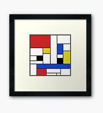 Mondrian Lines Framed Print