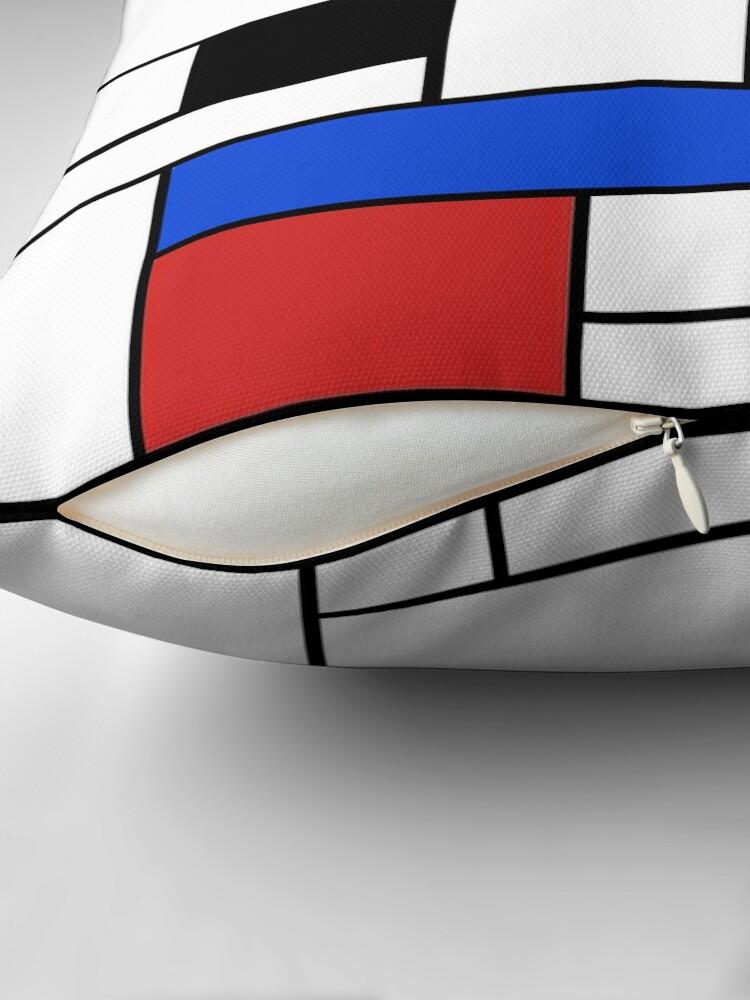 Alternative Ansicht von Mondrian Linien Dekokissen