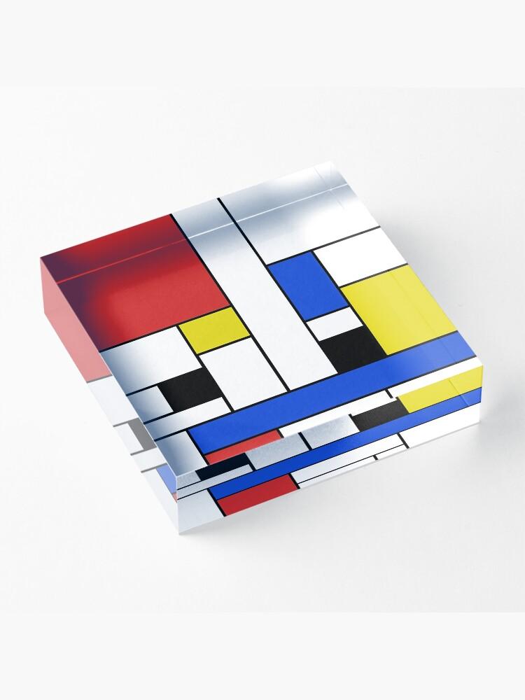 Alternative Ansicht von Mondrian Linien Acrylblock