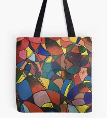 Lost in Colourful Abstract Tote Bag