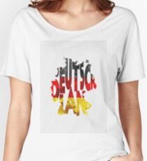 Germany Typographic Map Flag Women's Relaxed Fit T-Shirt