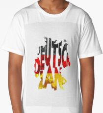 Germany Typographic Map Flag Long T-Shirt