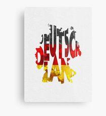 Germany Typographic Map Flag Metal Print