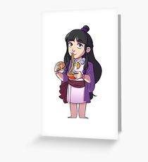 Burgers or ramen? Greeting Card