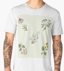 Wild Herbs & Wild Flowers - Pattern Men's Premium T-Shirt