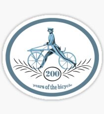 200 Years Of The Bicycle Sticker