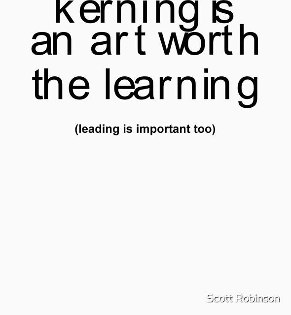 It`s an art worth the learning by Scott Robinson