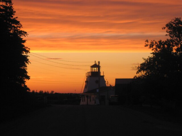 Low Island Lighthouse at sunset by GeoffG