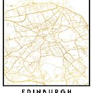 EDINBURGH SCOTLAND CITY STREET MAP ART by deificusArt