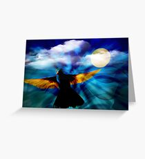 Hummingbird Moon III Greeting Card