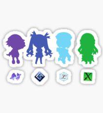 Hyperdimension Neptunia Four Goddesses Sticker
