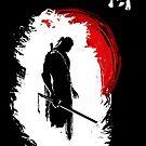 Einsamer Samurai (weiß) von DCornel
