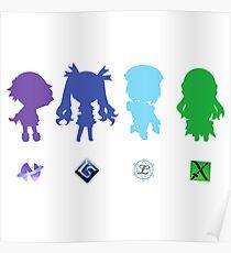 Hyperdimension Neptunia Four Goddesses Poster