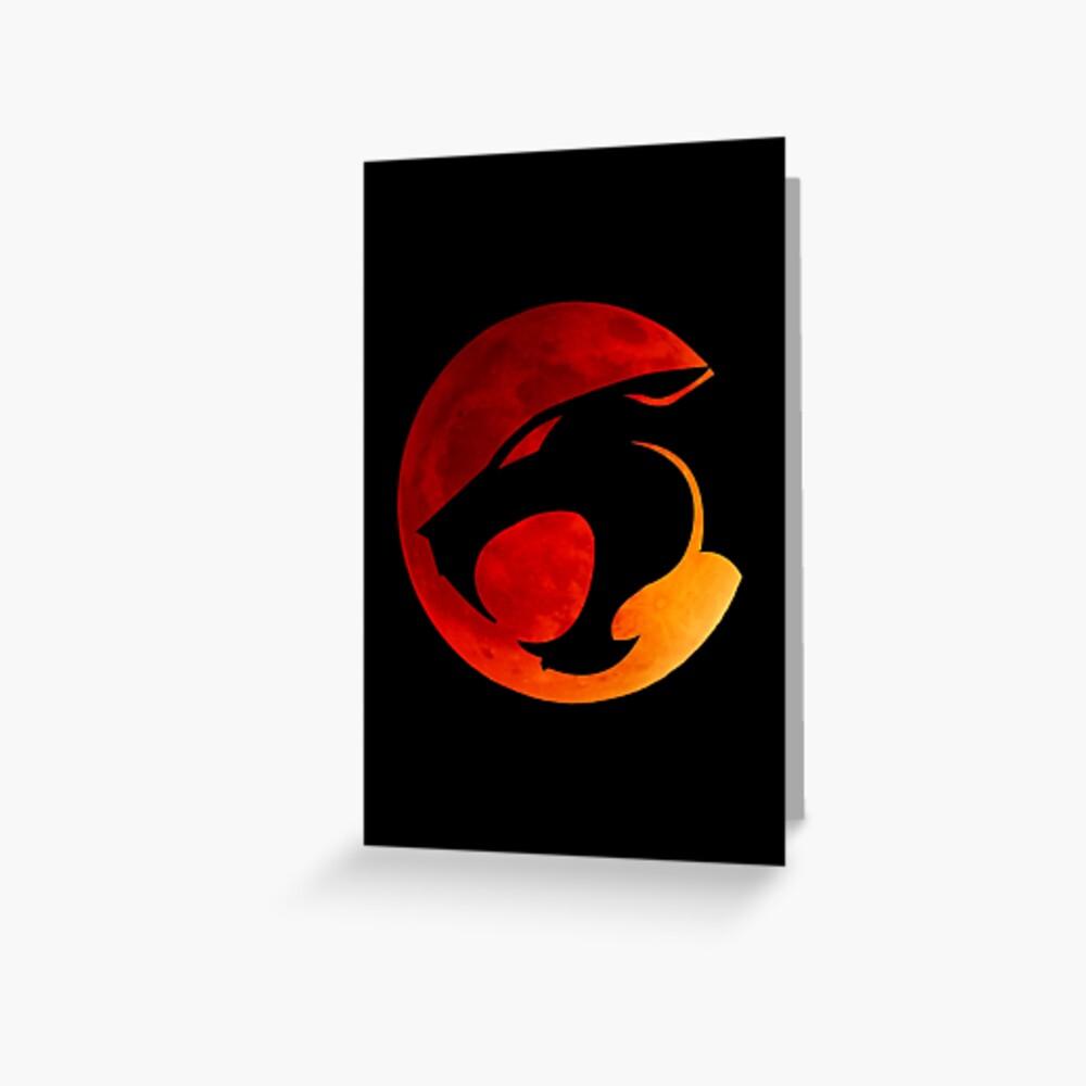 Donnerkatzen - Roter Mond Grußkarte