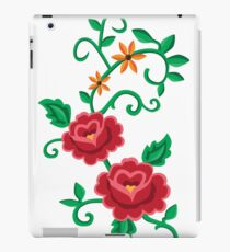 Folk embroidery with flowers  iPad Case/Skin