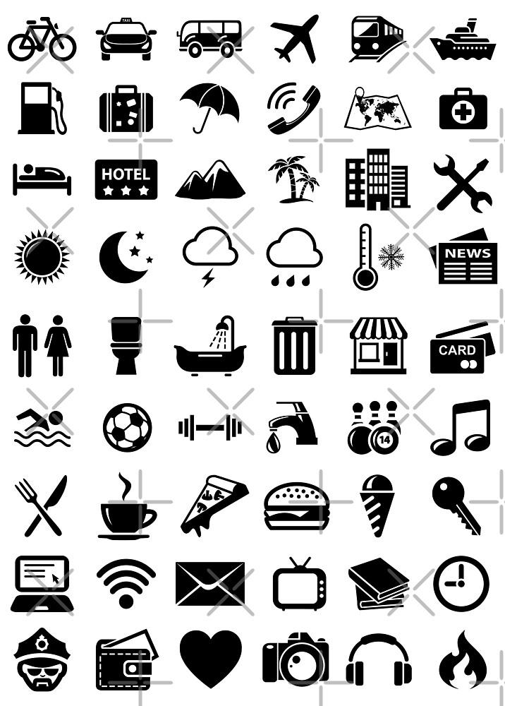 Reise-Ikonen-Sprache von DCornel