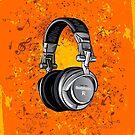 Kopfhörer Grunge von DCornel
