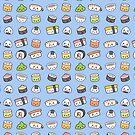 «Patrón de sushi feliz kawaii» de EuGeniaArt