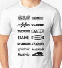 Camiseta unisex Arma de Borderlands Fabricantes
