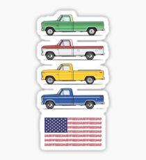 Vier 73-79 USA Trucks Sticker
