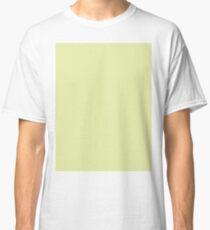 pastel olive green beige pale lemon mojito color Classic T-Shirt