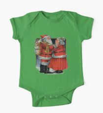 Vintage Mr and Mrs Claus Christmas Vector Kids Clothes