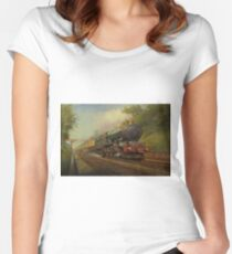 King in Sonning Cutting. Women's Fitted Scoop T-Shirt